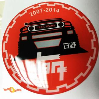 TEQ Toyota FJ Cruiser Domed Badge Emblem Resin Decal Sticker red