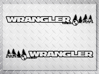 Pair Jeep Wrangler Off Road Vinyl Hood Decals unlimited
