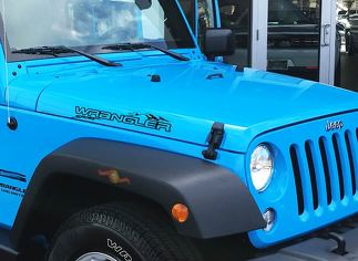 Pair Jeep Wrangler Unlimited Off Road Vinyl Hood Decals