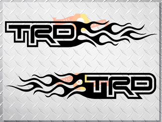 Toyota TRD Flame Style Logo Right & Left car decal stickers