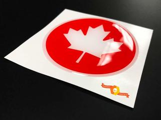 Canada flag Domed Badge Emblem Resin Decal Sticker
