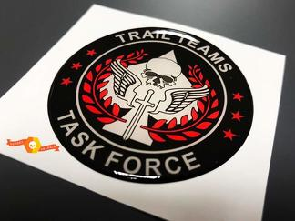 Trail Teams Task Force Call of Duty Domed Badge Emblem Resin Decal Sticker