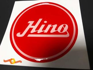 Toyota Hino Made Red Domed Badge Emblem Resin Decal Sticker
