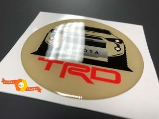 TRD Toyota 4Runner Domed Badge Emblem Resin Decal Sticker