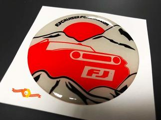 TRD Toyota FJ Cruiser Domed Badge Emblem Resin Decal Sticker