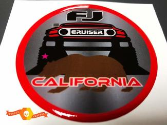 TRD Toyota FJ Cruiser California Domed Badge Emblem Resin Decal Sticker