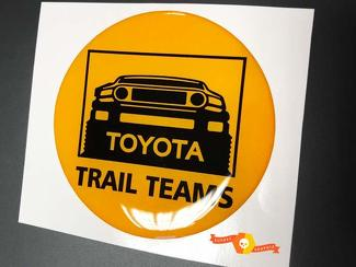 TRD Toyota FJ Cruiser Trail Teams Domed Badge Emblem Resin Decal Sticker