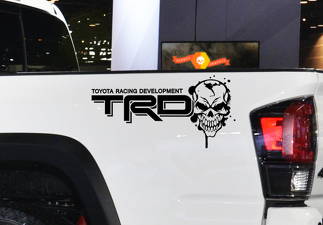 Toyota Racing Development TRD Skull 4X4 bed side Graphic decals stickers