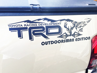 Toyota Racing Development TRD Outdoorsman Edition 4X4 bed side Graphic decals stickers