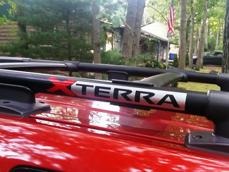 2x NISSAN XTERRA ROOF RACK DECAL EMBLEM 2 colors
