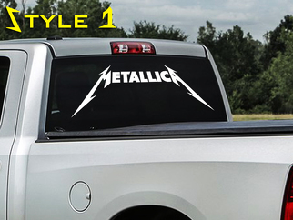 Metallica rock band thrash metal HardWired to self destruct window decal sticker SUV Truck