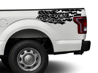 Ford Raptor F150 F 150 US flag distressed grunge 4X4 bed side Graphic decals stickers