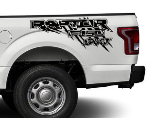 Ford Raptor F150 F 150 SVT distressed grunge 4X4 bed side Graphic decals stickers