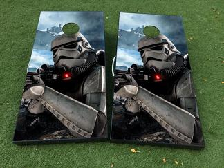 Stormtrooper Star Wars Cornhole Board Game Decal VINYL WRAPS with LAMINATED