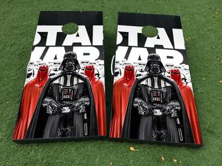 Star Wars Darth Vader Cornhole Board Game Decal VINYL WRAPS with LAMINATED