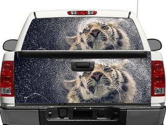 Tiger and water Rear Window OR tailgate Decal Sticker Pick-up Truck SUV Car