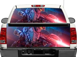 Halo Master Chief Warrior Weapon Rear Window OR tailgate Decal Sticker Pick-up Truck SUV Car