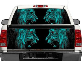 Lion lions predator carnivore cat cats predator Rear Window OR tailgate Decal Sticker Pick-up Truck SUV Car