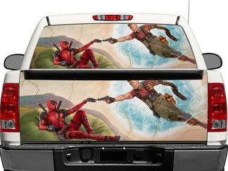 The Creation of Deadpool Rear Window OR tailgate Decal Sticker Pick-up Truck SUV Car