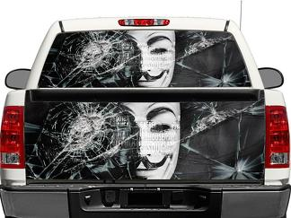 Anonymous Rear Window OR tailgate Decal Sticker Pick-up Truck SUV Car