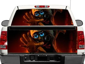 ROMANTICALLY APOCALYPTIC gasmask Rear Window OR tailgate Decal Sticker Pick-up Truck SUV Car
