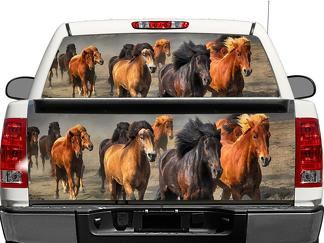 Animal Herd Horse Rear Window OR tailgate Decal Sticker Pick-up Truck SUV Car