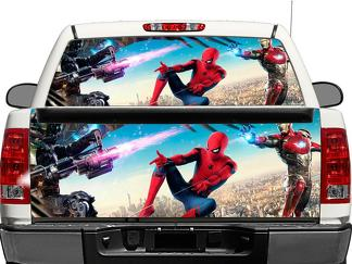 Iron Man Marvel Comics Spider Man Rear Window OR tailgate Decal Sticker Pick-up Truck SUV Car
