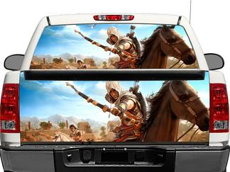 Assassins creed origins Rear Window OR tailgate Decal Sticker Pick-up Truck SUV Car