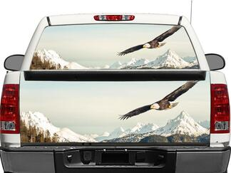 US Bald Eagle Rear Window OR tailgate Decal Sticker Pick-up Truck SUV Car