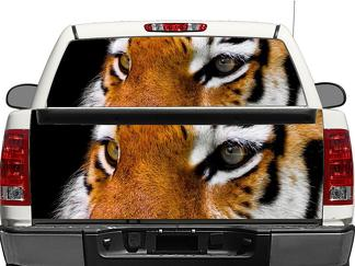 Tiger eyes Rear Window OR tailgate Decal Sticker Pick-up Truck SUV Car