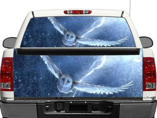 Snowy owl Rear Window OR tailgate Decal Sticker Pick-up Truck SUV Car