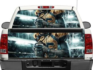 NFL Rear Window OR tailgate Decal Sticker Pick-up Truck SUV Car