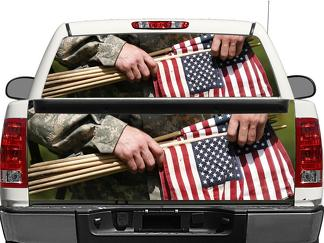 US USA Americans Rear Window OR tailgate Decal Sticker Pick-up Truck SUV Car