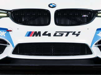 M4 GT4 BMW bumper decal 2 stickers