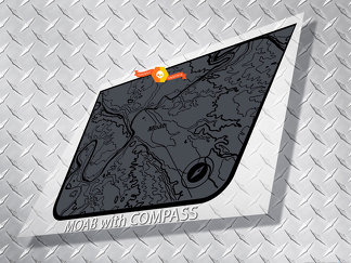 Jeep Wrangler Blackout MOAB edition PASS map adventure trip Vinyl Hood Decal TJ LJ JK Unlimited