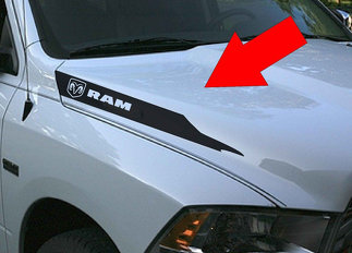Dodge Ram Hemi 5.7 L 1500 2500 Hood Vinyl Stripes Decals Stickers Mopar Rebel RT