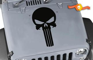 Jeep Wrangler TJ LJ JK The Punisher Logo Vinyl Hood Decal Sticker Car Truck