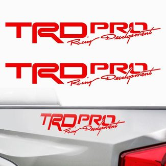 Toyota Tacoma TRD PRO 2017 Vinyl Bed Side Decals Stickers Cut Vinyl Racing D