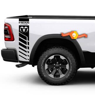 Dodge Ram 1500 2500 3500 Hemi 4x4 Aufkleber LKW-Ladefläche Streifen Vinyl Aufkleber Racing DR