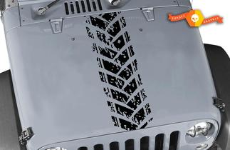 Jeep Wrangler TJ LJ JK JKU Reifen Profil LKW Zeichen Schlamm Motorhaube Vinyl Aufkleber Auto