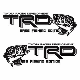 TOYOTA TRD Bass Fishing Edition Fish Decal Sticker Vinyl truck Tacoma Tundra Qk