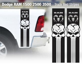 Dodge Ram 1500 2500 3500 Hemi 4x4 Decal Truck Bed Stripe Vinyl Sticker Racing 9D