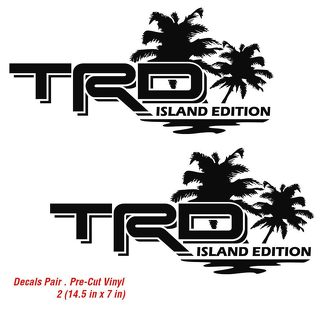 Toyota TRD Island Edition Tropical Palm Tacoma Tundra Decals Vinyl Sticker Decal