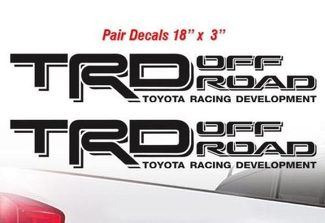 TOYOTA TRD OFF ROAD 4x4 Decals Set PAIR truck bed Offroad Tacoma Tundra Decal f