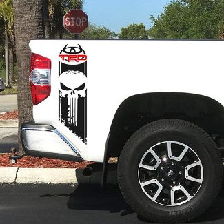 Tundra TRD Logo Punisher Sport Off Road 4x4 Toyota Decals Vinyl Stickers Decal S