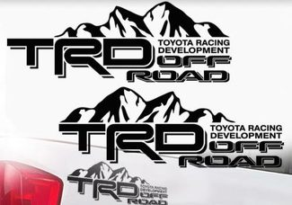 Toyota TRD Truck Mountain Off-Road 4x4 Racing Pair Decals Tacoma Tundra Vinyl 2