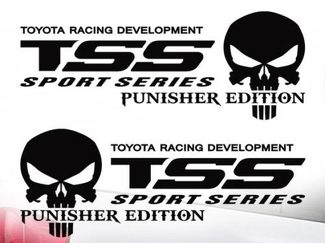 Toyota TSS Truck Sport Series Racing Tacoma Tundra The Punisher Decal Vinyl 2Pcs