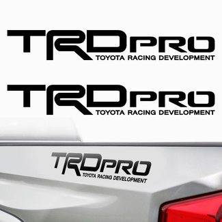 TRD PRO Toyota Tacoma Tundra Racing Bed Side 2 Decals Stickers PreCut Vinyl