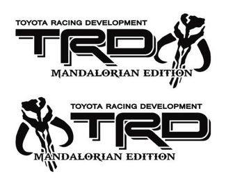 Toyota TRD Mandalorian Edition Off Road Racing Tacoma Tundra Sticker Decal Vinyl