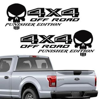 Ford F150 4X4 off road Punisher Decals Truck Stickers Vinyl 2015 2016 2017 color